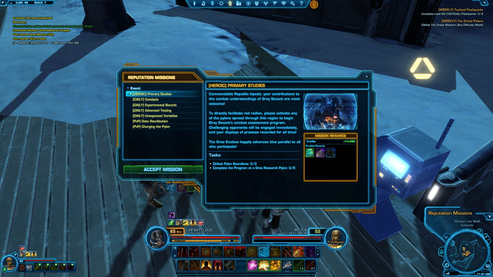 Relics of The Gree SWTOR: Quest