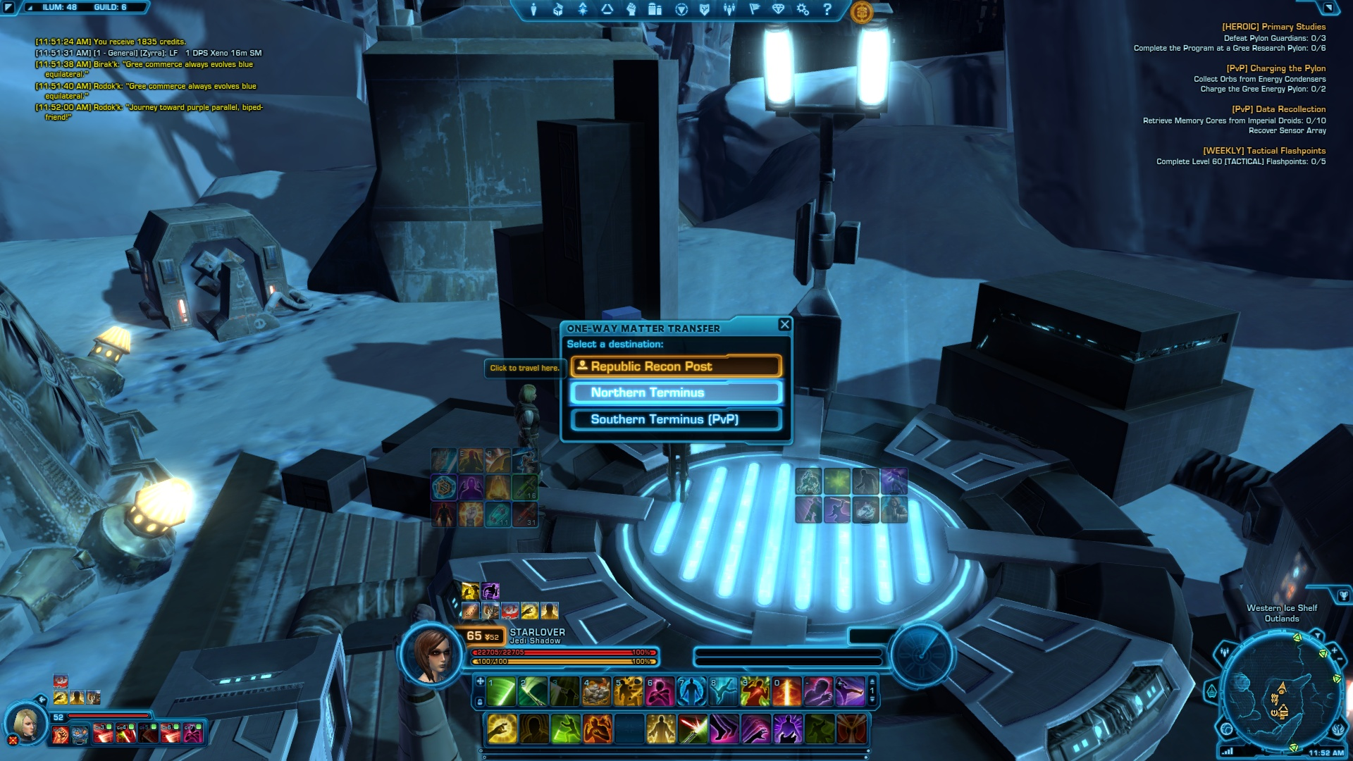 Relics of The Gree SWTOR: aree PvP e PvE Western Ice Shelf