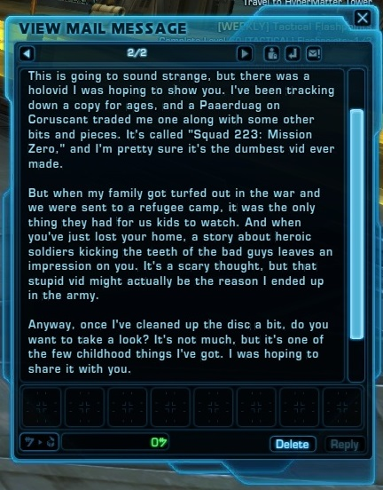 swtor romances story email
