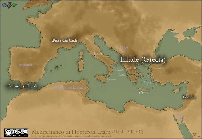 Cartina Homeron Etark Mediterraneo