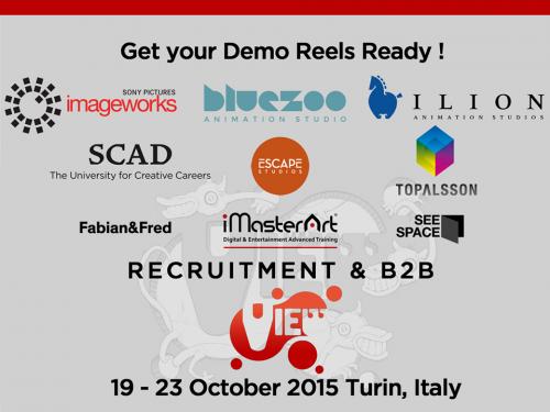 La VIEW Conference 2015 inizia. Recruiting di artisti e programma ufficiale