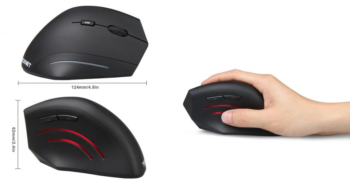 Mouse verticale wireless Tecknet